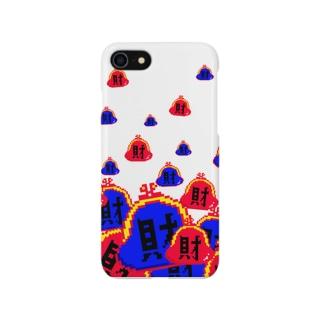 財(白) Smartphone cases