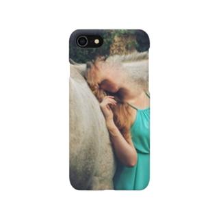 馬に取り込まれた女 Smartphone cases
