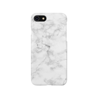 White  Marble Smartphone cases