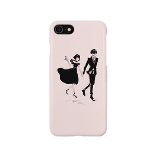 Date/pink スマートフォンケース