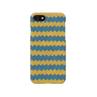 ギザギザストライプ 【ブルー&イエロー】 Smartphone cases