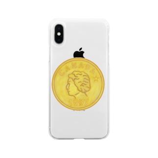金貨 Soft clear smartphone cases