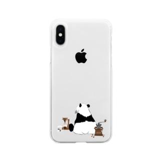 ドリップ待ちのパンダ🐼 Soft Clear Smartphone Case
