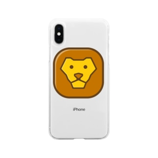 Savanna lion face Soft clear smartphone cases