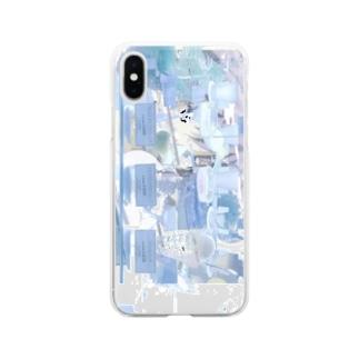 mosaic nemui Soft clear smartphone cases