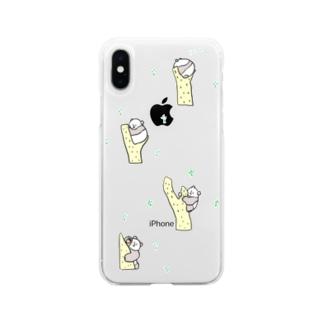 やわらかパンダ Soft clear smartphone cases