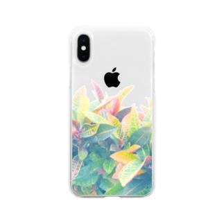 南国の葉っぱ 3🌿 Soft clear smartphone cases