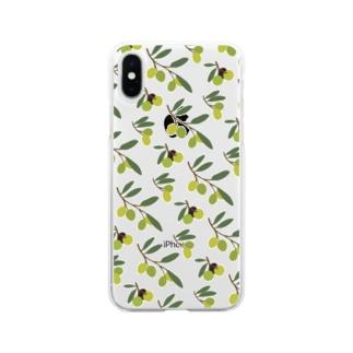 オリーブ Soft clear smartphone cases