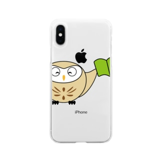 ちえぶくろう Soft clear smartphone cases