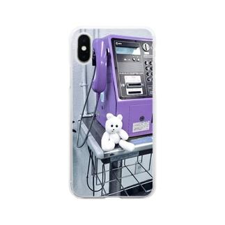 公衆電話と、くまきち Soft clear smartphone cases