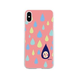 水滴くん Soft clear smartphone cases