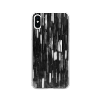 302のmonochrome Soft clear smartphone cases