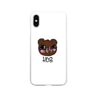 HUGオフォシャルショップのFualey White Soft clear smartphone cases