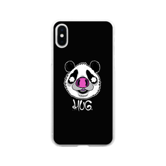 HUGオフォシャルショップのPandrew Black Soft clear smartphone cases