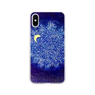 おやすみの森 Soft clear smartphone cases