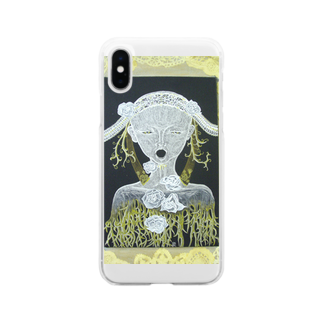 Print items/山中綾子の薔薇架刑 Soft clear smartphone cases