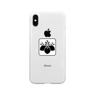 桔梗紋 Soft clear smartphone cases