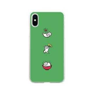ねこたち Soft clear smartphone cases