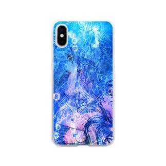 し ず め - t10 Soft clear smartphone cases