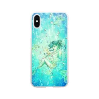 シュノーケリング Soft clear smartphone cases