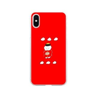 中華なワヌちゃん Soft clear smartphone cases