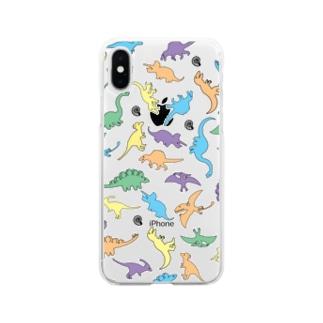 きょうりゅういっぱい Soft clear smartphone cases