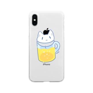 NekoP - びーる Soft clear smartphone cases