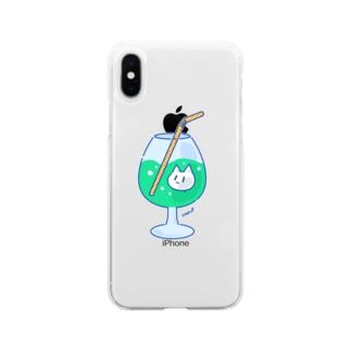 NekoP - じゅーす Soft clear smartphone cases