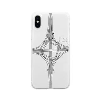 タービン型インターチェンジ Soft clear smartphone cases