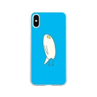 とりきちの上から目線 Soft clear smartphone cases