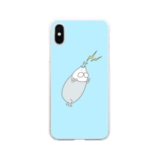 ねこタイツの攻撃 Soft clear smartphone cases