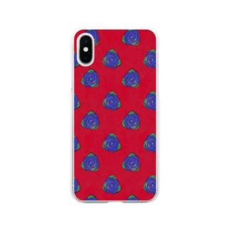 RED×BRUE Rose Soft clear smartphone cases