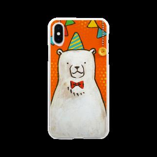 佐山周市のしろくまパーティ Soft clear smartphone cases