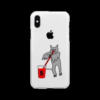 花くまゆうさくの血液型をさりげなく申告(B) Soft clear smartphone cases
