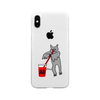 血液型をさりげなく申告(AB) Soft clear smartphone cases