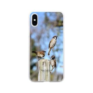 東京すずめ Soft clear smartphone cases