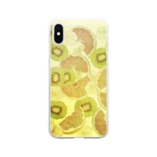 Sangria White サングリア白 Soft clear smartphone cases
