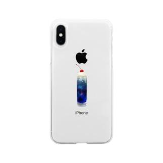 宇宙ソーダ。 iPhoneケース Soft clear smartphone cases