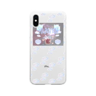 シュウマイのバニラ味のタピオカヘブンストロベリーティー(雲) Soft clear smartphone cases