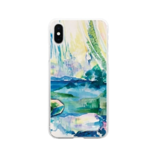 深い湖 Soft clear smartphone cases