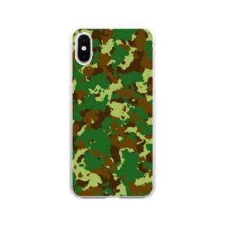 迷彩柄iPhoneケース Soft clear smartphone cases