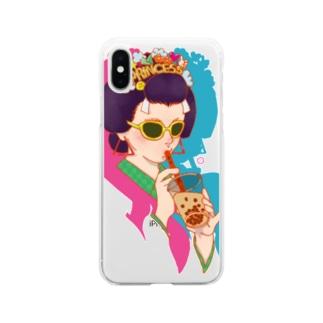 タピ姫A Soft clear smartphone cases