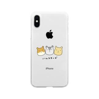 ゆるハムスターズ Soft clear smartphone cases