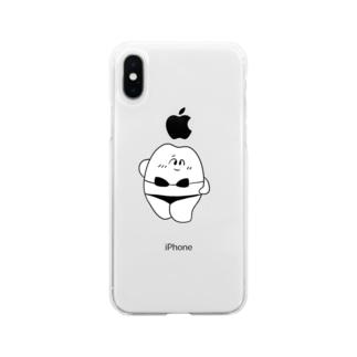 歯のマンガの歯の水着 Soft clear smartphone cases