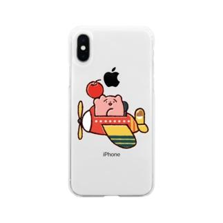 りんごの配達 Soft clear smartphone cases