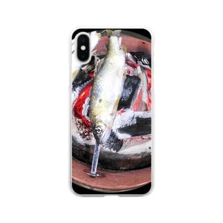 鮎の塩焼き Soft clear smartphone cases