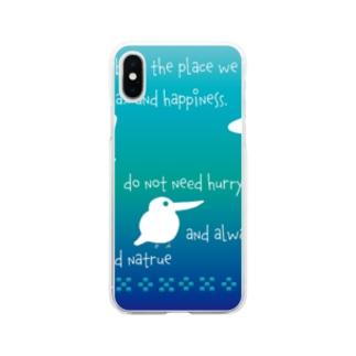 青い森へメッセージ [Hello!Okinawa] Soft clear smartphone cases