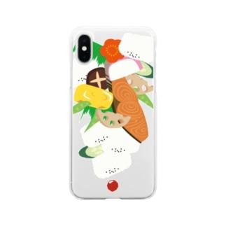 フォーリング幕の内弁当 Soft clear smartphone cases