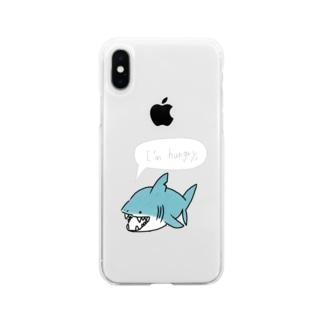 小太りサメ君 Soft clear smartphone cases