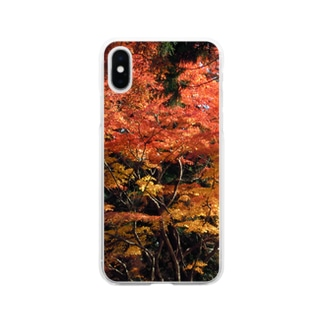 美しき日本の紅葉4 Soft clear smartphone cases